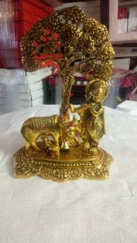 Cow Krishna Tree Gold